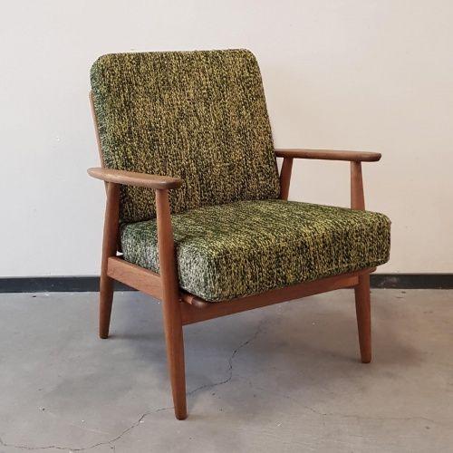 Verbazingwekkend Vintage teakhouten fauteuil Denemarken jaren '60 AT-45