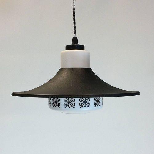 Hanglamp zwart wit jaren \'50